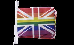 Fahnenkette Großbritannien Regenbogen - 15 x 22 cm