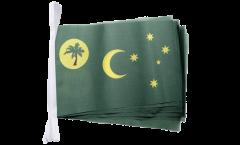 Fahnenkette Kokosinseln - 15 x 22 cm