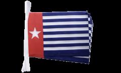 Fahnenkette West-Neuguinea / West-Papua - 15 x 22 cm