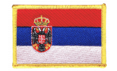 Aufnäher Serbien mit Wappen - 8 x 6 cm