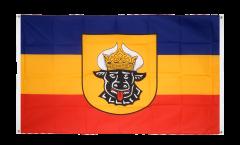 Balkonflagge Deutschland Mecklenburg alt - 90 x 150 cm