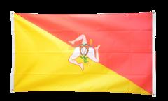 Balkonflagge Italien Sizilien - 90 x 150 cm