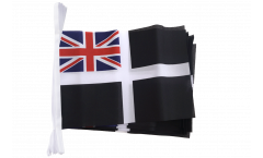 Fahnenkette Großbritannien St. Piran Cornwall Ensign - 15 x 22 cm