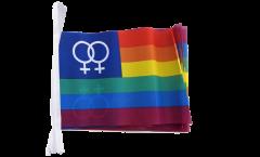 Fahnenkette Regenbogen Lesbisch Venus Women - 15 x 22 cm