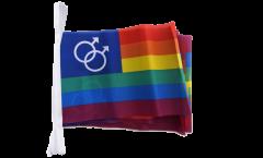 Fahnenkette Regenbogen Schwul Mars Men - 15 x 22 cm