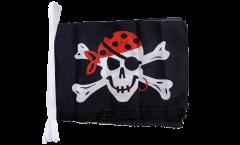 Fahnenkette Pirat one eyed Jack - 30 x 45 cm