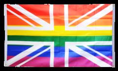 Balkonflagge Großbritannien Regenbogen - 90 x 150 cm