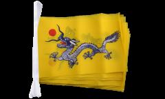 Fahnenkette China Qing Dynastie - 15 x 22 cm