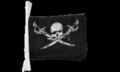 Fahnenkette Pirat mit Säbel - 15 x 22 cm