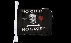 Fahnenkette Pirat no guts no glory - 15 x 22 cm