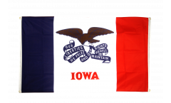 Balkonflagge USA Iowa - 90 x 150 cm