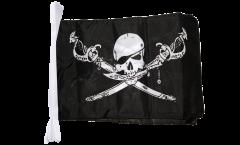 Fahnenkette Pirat mit Säbel - 30 x 45 cm