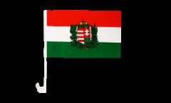 Autofahne Ungarn mit Wappen - 30 x 40 cm