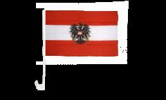 Autofahne Österreich mit Adler - 30 x 40 cm