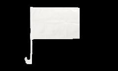 Autofahne Einfarbig Weiß - 30 x 40 cm