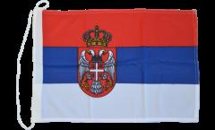 Bootsfahne Serbien mit Wappen - 30 x 40 cm
