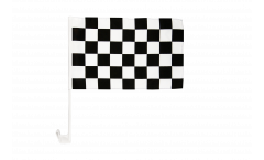 Autofahne Karo Schwarz Weiß Zielflagge - 30 x 40 cm
