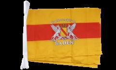Fahnenkette Deutschland Großherzogtum Baden 2 - 30 x 45 cm