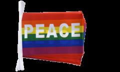 Fahnenkette Regenbogen mit PACE - 15 x 22 cm