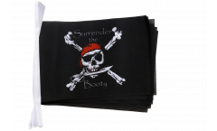 Fahnenkette Pirat Surrender the Booty - 15 x 22 cm