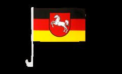 Autofahne Deutschland Niedersachsen - 30 x 40 cm