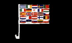 Autofahne Europa alle Länder - 30 x 40 cm