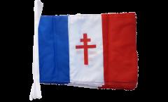 Fahnenkette Frankreich mit Lothringerkreuz - 30 x 45 cm