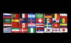 Fahnen Set Fußball 2018 - 60 x 90 cm
