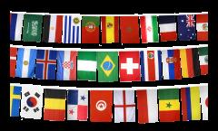 Flaggenkette Fußball 2018 - 10 x 15 cm