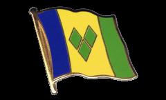 Flaggen-Pin St. Vincent und die Grenadinen - 2 x 2 cm