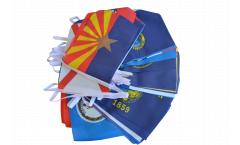 Flaggenkette Bundesstaaten der USA - 15 x 22 cm