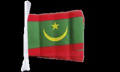 Fahnenkette Mauretanien - 15 x 22 cm