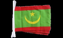 Fahnenkette Mauretanien - 30 x 45 cm