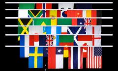 Fahnenkette Frauen WM 2019 - 15 x 22 cm