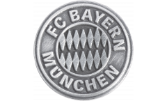 Pin FC Bayern München Emblem Silber - 1.5 x 1.5 cm