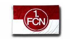 Hissflagge 1. FC Nürnberg Logo rot-weiß - 100 x 150 cm