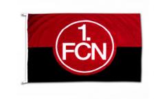 Hissflagge 1. FC Nürnberg Logo rot-schwarz - 100 x 150 cm