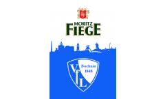 Hissflagge VfL Bochum VfL und Fiege - 100 x 150 cm