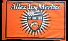Flagge mit Hohlsaum FC Lorient  - 90 x 140 cm