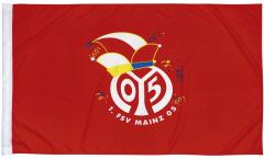 Fastnachtsflagge mit Hohlsaum 1. FSV Mainz 05 Logo - 80 x 120 cm