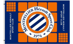 Flagge HSC Montpellier - 90 x 150 cm