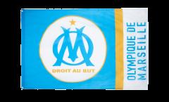Hissflagge Olympique Marseille Logo - 90 x 150 cm