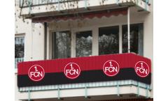 Balkonfahne 1. FC Nürnberg  - 90 x 500 cm