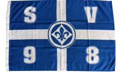 Flagge SV Darmstadt 98 Kreuz - 60 x 90 cm