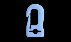 Kunststoffkarabinerhaken - 5cm