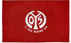 Flagge mit Hohlsaum 1. FSV Mainz 05 Logo - 100 x 150 cm