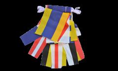 Fahnenkette Flaggenalphabet und Zahlenwimpel - 25 m