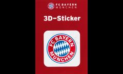 3D-Aufkleber FC Bayern München Logo - 6 x 6 cm