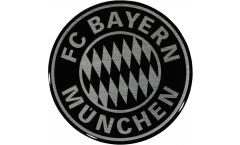 3D-Aufkleber FC Bayern München Black - 6 x 6 cm