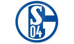 Aufkleber FC Schalke 04 Blau und Weiß  - 8 x 8 cm
